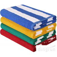 """Buy cheap Stripe Cotton Bath Towels Plain Woven 30 """" X 60 """" High Absorbency For Swimming from Wholesalers"""