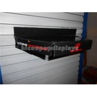 China Custom Clothing Retail Store Fixtures Hanging Acrylic Shoe Display Stand Black on sale