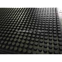 China Front And Grooved Back Cow Rubber Mats , Non Slip Rubber Matting With 3-5MPa on sale