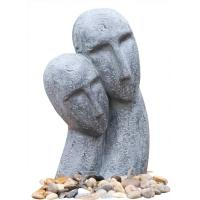 Buy cheap Long Face Figure Outdoor Resin Garden Fountains Decor OEM Acceptable from Wholesalers