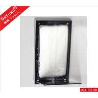 Buy cheap Silk Printed Black Acrylic Tissue Box Holder With Magnetic Base from wholesalers