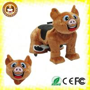 Plush motorized animal rides for Children amusement in mall zoo park supermarket