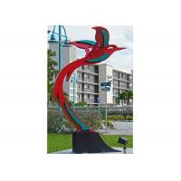 Buy cheap Custom Modern Painted Public Art Stainless Steel Flying Bird Sculpture from wholesalers