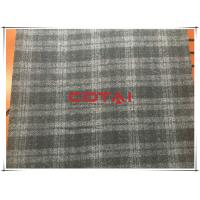 Buy cheap Black and Gray One side Thin Melton 7cm Tartan Wool Fabric , Width 150cm from Wholesalers