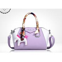 Buy cheap High grade lychee line PU leather womens handbag tote shoulder bag colorful for summer from Wholesalers