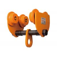 Buy cheap Orange Big Capacity Chain Hoist Push Travel Trolley Manual Hoist Trolley from Wholesalers