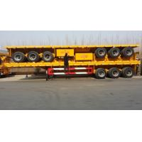 Buy cheap 3 axle flatbed container semi trailer / flat bed 20ft/40ft container truck trailer from wholesalers