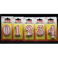 Buy cheap Number Birthday Candles With Red Edge And Plastic Holder from Wholesalers