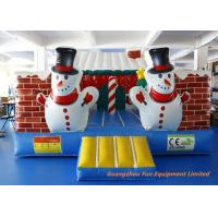 Buy cheap Outdoor Inflatable Air Bouncer Christmas House With Air Blower Customized from wholesalers