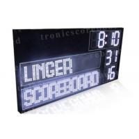 Quality P16mm LED Football Scoreboard With White Color Digits Easy Maintenance wholesale
