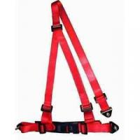 Buy cheap Buckle Style Red Racing Safety Belts With Bolts / 3 Point Retractable Seat Belts from wholesalers