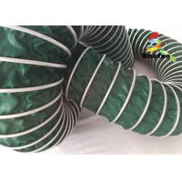 China Air Conditioning PVC High Temperature Flexible Duct , Green Heat Resistant Flexible Ducting on sale
