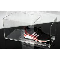 Fashion Plexiglass Display Shoe Drawer Case / Plastic Acrylic Shoe Box Storage Organizer