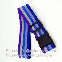 China Striped Polyester Travel Luggage band belts, Suitcase Band Belt Strap China factory on sale