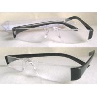 Buy cheap Black Arms Slim Lens Rimless Reading Glasses With UV400 Protection from Wholesalers
