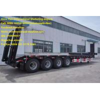 China q345 Material 4 Axles Low Bed Semi Trailer Trucks with 12.00R20 Model Tire for 50T Load Capacity with 3.5 Inch King Pin on sale