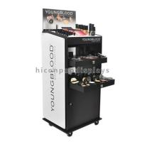 Buy cheap Custom Floor Standing Cosmetic Display Stand Movable For Point Of Sale Retail from wholesalers