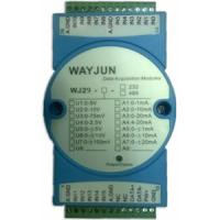 Buy cheap WAYJUN 16-CH Analog Signal to RS485/232 Modbus Converters DIN35 blue signal acquisition CE approved from Wholesalers