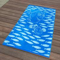 Buy cheap Kids Blue Fish Jacquard Beach Towel Long - Lasting And Absorbent Design from Wholesalers