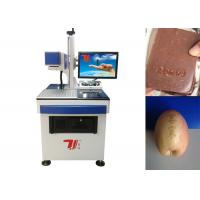 Buy cheap Food Working Machinery Co2 Laser Marking Machine Ac220v With Lockable Cabinet from wholesalers