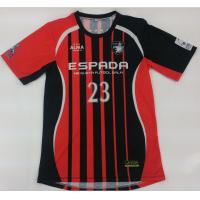 Buy cheap Micro Mesh Sublimated Football Jersey , Breathable Soccer Ball Shirt from Wholesalers