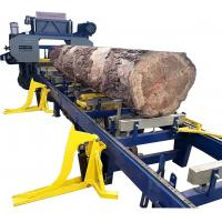 Buy cheap Full Automatic Horizontal Band Saw Mill Machine with log loading arm,hydraulic log rotation from wholesalers
