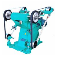 Quality Big Power Sand Belt Grinding And Polish Machine With Two Cloth Wheel wholesale