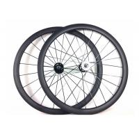Buy cheap Tubular Clincher Carbon Cycling Wheels T700 , Carbon 38mm Fixed Rear Wheel 700c  from Wholesalers