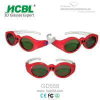 Buy cheap Lovely Red Round Frame USB Recharable Active Shutter 3D Glasses For Children from Wholesalers