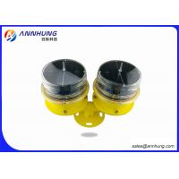 Buy cheap LED Solar Aviation Obstruction Light Twin / Dual Low intensity ICAO FAA L810 32.5cd from wholesalers