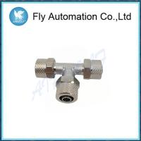 China 1540 Series Brass Pneumatic Fittings , Three Connection Joint Brass Tube Fittings on sale