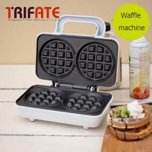 220V White silver stainless steel household thick waffle machine muffin machine cake machine breakfast waffle maker