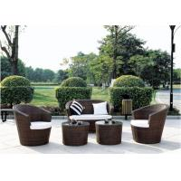 Buy cheap Double Coffee Table Outdoor Rattan Furniture, Sectional Sofa Sets from wholesalers
