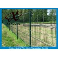 Buy cheap 3D Curved Sport Field Garden Fence Panels Green Vinyl Coated from wholesalers