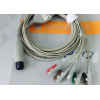 Buy cheap Compatible Generic AAMI 6 Pin One Piece Ecg Lead Wires 5 Leads OD 4.00mm from Wholesalers