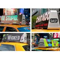 Outdoor LED Taxi Roof Signs , Taxi Cab Advertising Signs High Definition