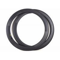 Buy cheap 60MM 700C Racing Bike Rims Tubular Toray 700 / 800 With Full Carbon Fiber from Wholesalers