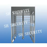 Buy cheap Automatic stainless steel full height pedestrian turnstile from wholesalers