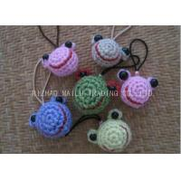 China Simple Crochet Christmas Ornaments Crochet Frog Head Shape For Key Chains on sale