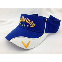 Buy cheap Fashion Blue White Mens Golf Visor Cap Summer Twill Short Brim Hat from Wholesalers