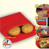 Buy cheap NEW Red Washable Cooker Bag Baked Potato Microwave Cooking Potato Quick Fast cooks 4 potat from wholesalers