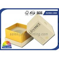 Buy cheap Perfume / Cosmetics Paper Gift Box Rigid Setup Boxes With UV Varnishing from Wholesalers