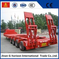 Buy cheap 40T 4 Axle Flat Low Bed Semi Trailer / Lowboy Semi Trailer CCC Certification from Wholesalers