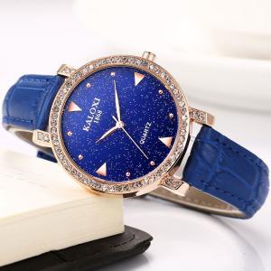 fashion ladies flowry watch with leather strip Japan quartz movement QT3795