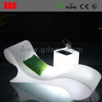 Buy cheap Swimming Pool Illuminated White Plastic Outdoor Led Beach Lounge Chair from wholesalers