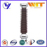 Quality 120KV Brown Porcelain Surge Arrester for Railway Power Station IV Level Pollution Areas for sale