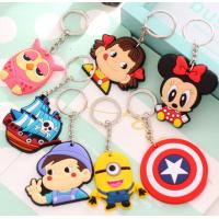 Buy cheap Custom Creative Soft PVC Key Ring Cartoon Buckle Freestyle Injection With Color from Wholesalers