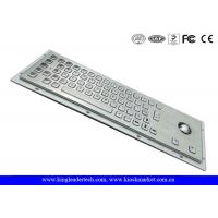 Buy cheap Ruggedized Panel Mount Metal Keyboard With Trackball / Stainless Steel Keyboard from Wholesalers