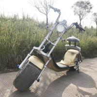 Buy cheap Double Seat 60v Electric Harley Scooter , 1200w Adults Electric Citycoco Scooter from wholesalers