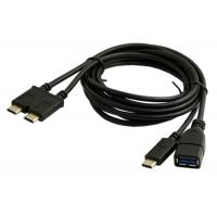 Dual Type C USB Data Cable Robust EMI Performance For 13 Inch Macbook Pro